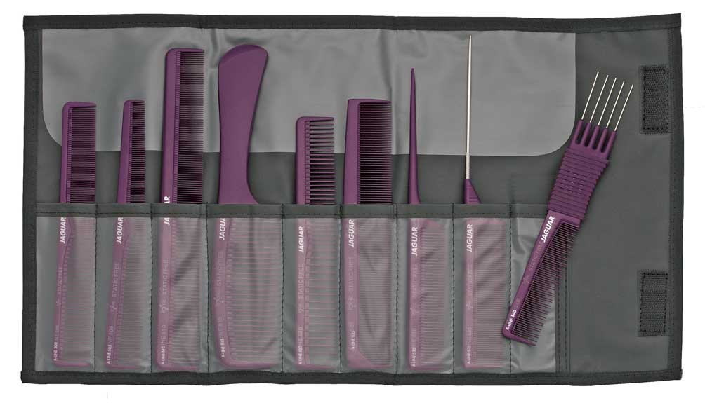 Professional Hair Comb Set JAGUAR A-LINE LILA