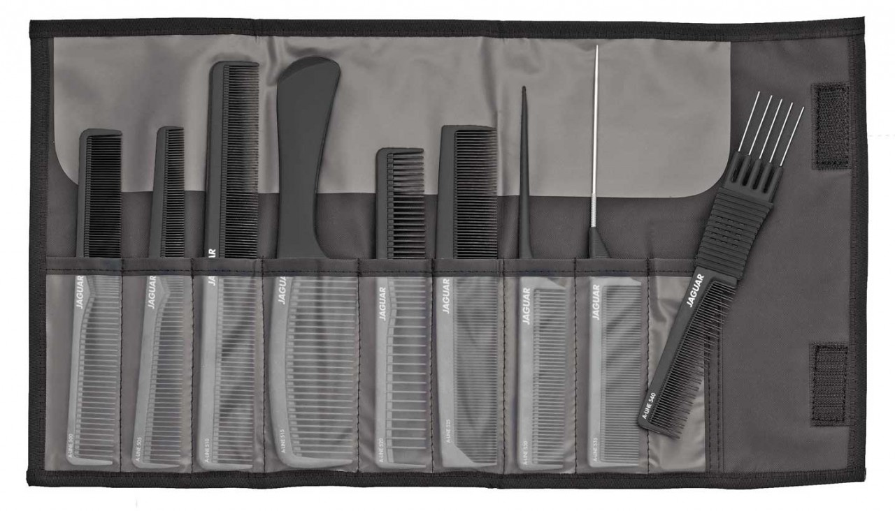 Professional Hair Comb Set JAGUAR A-LINE BLACK