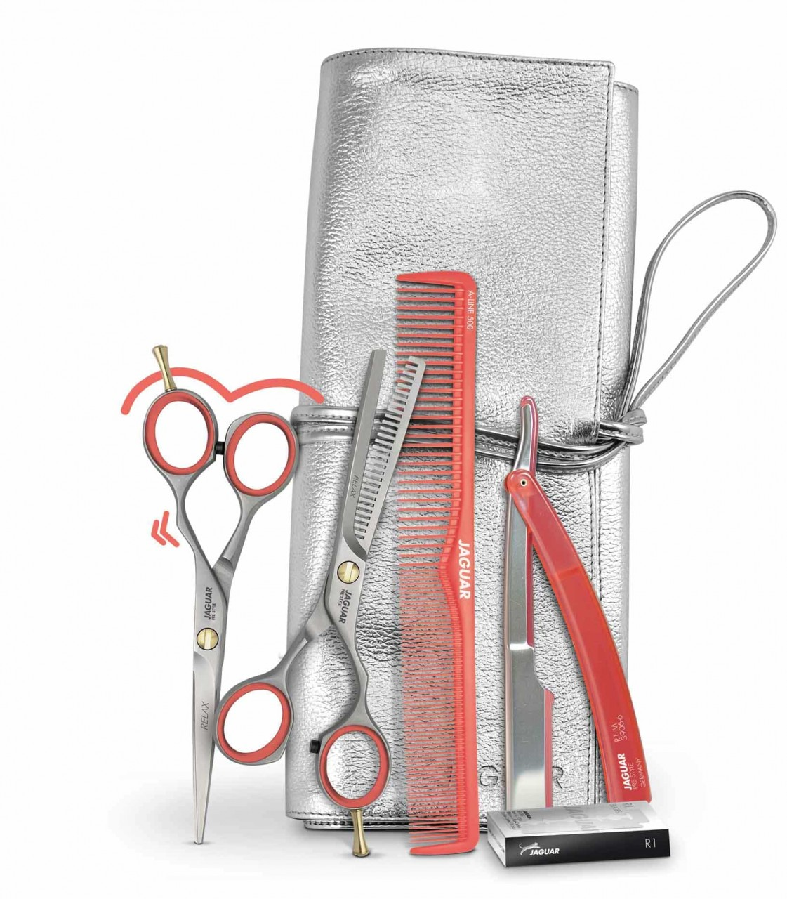 "Hair Scissors Set JAGUAR ""NEXT GENERATION"" Offset"