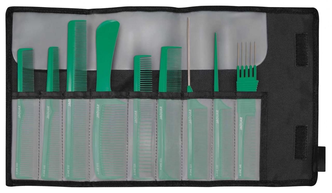 Professional Hair Comb Set JAGUAR A-LINE SMARAGD