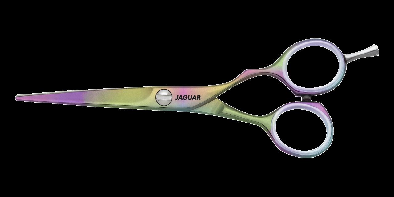 Hair Scissors JAGUAR SUNSHINE clear Fingerrings