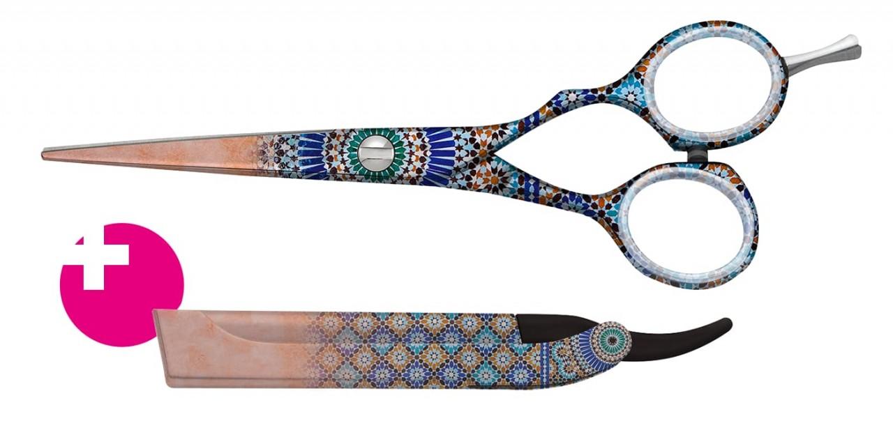 Friseurschere mit Rasiermesser JAGUAR SALAM MARRAKECH + JT1 M