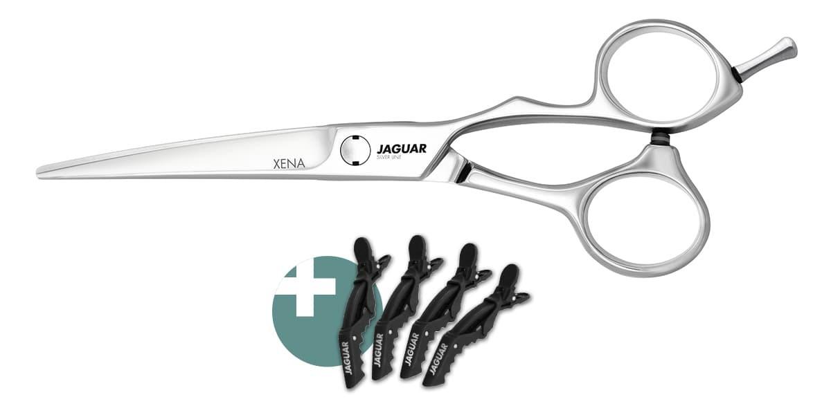 Friseurschere JAGUAR XENA + CROCO-CLIPS