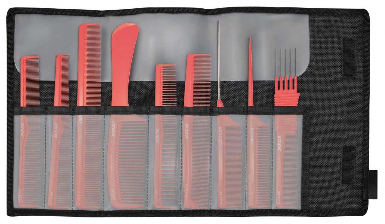 Professional Hair Comb Set JAGUAR A-LINE CORAL