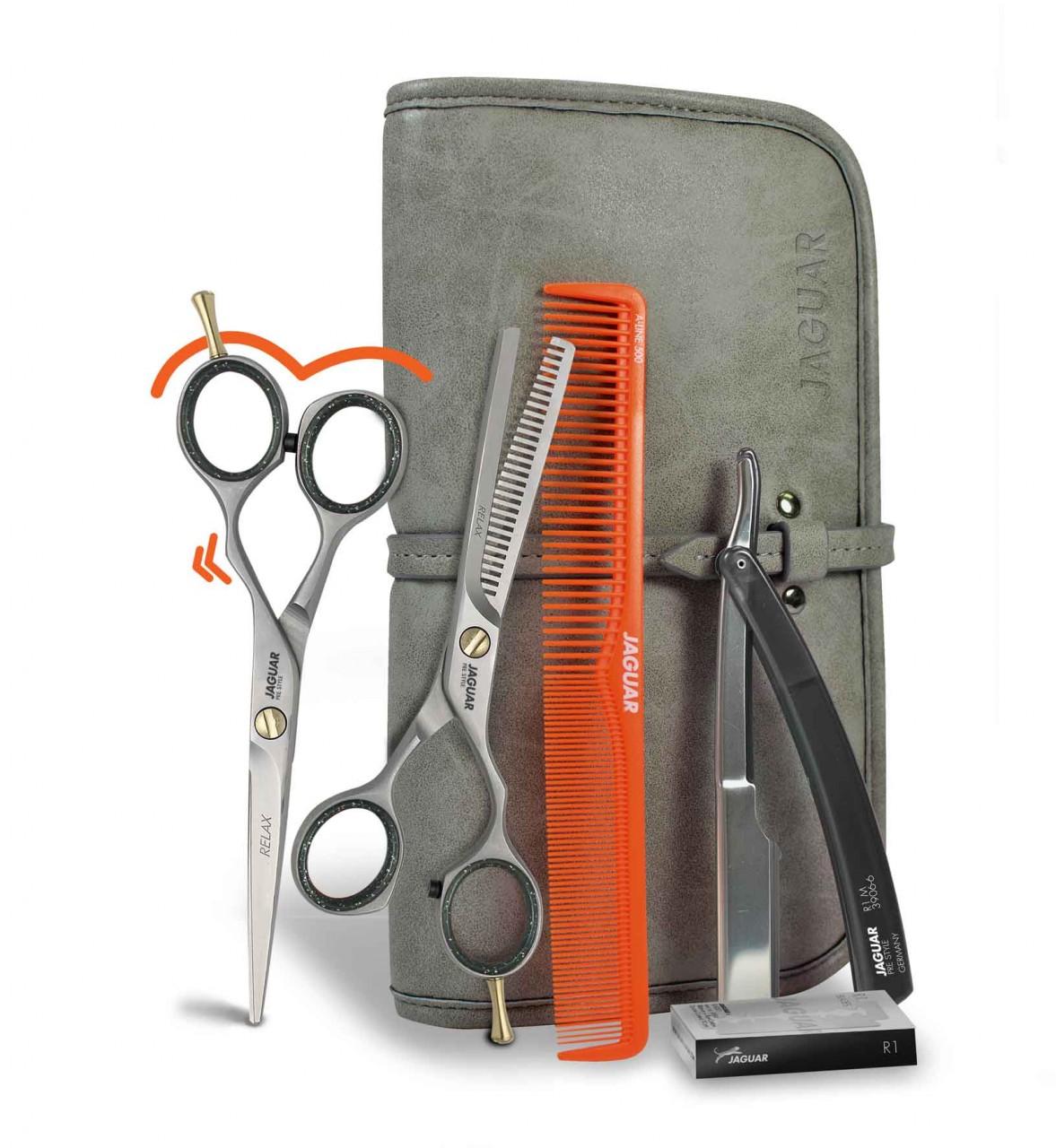 "Hair Scissors Set JAGUAR ""GET READY"" Offset"